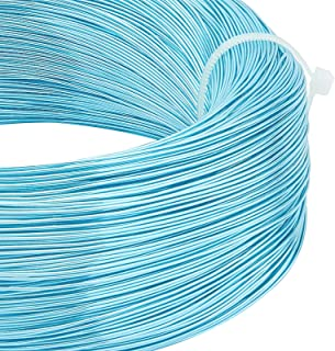 BENECREAT 918 Feet 22 Gauge Aluminum Wire Bendable Metal Sculpting Wire for Beading Jewelry Making Art and Craft Project, ...