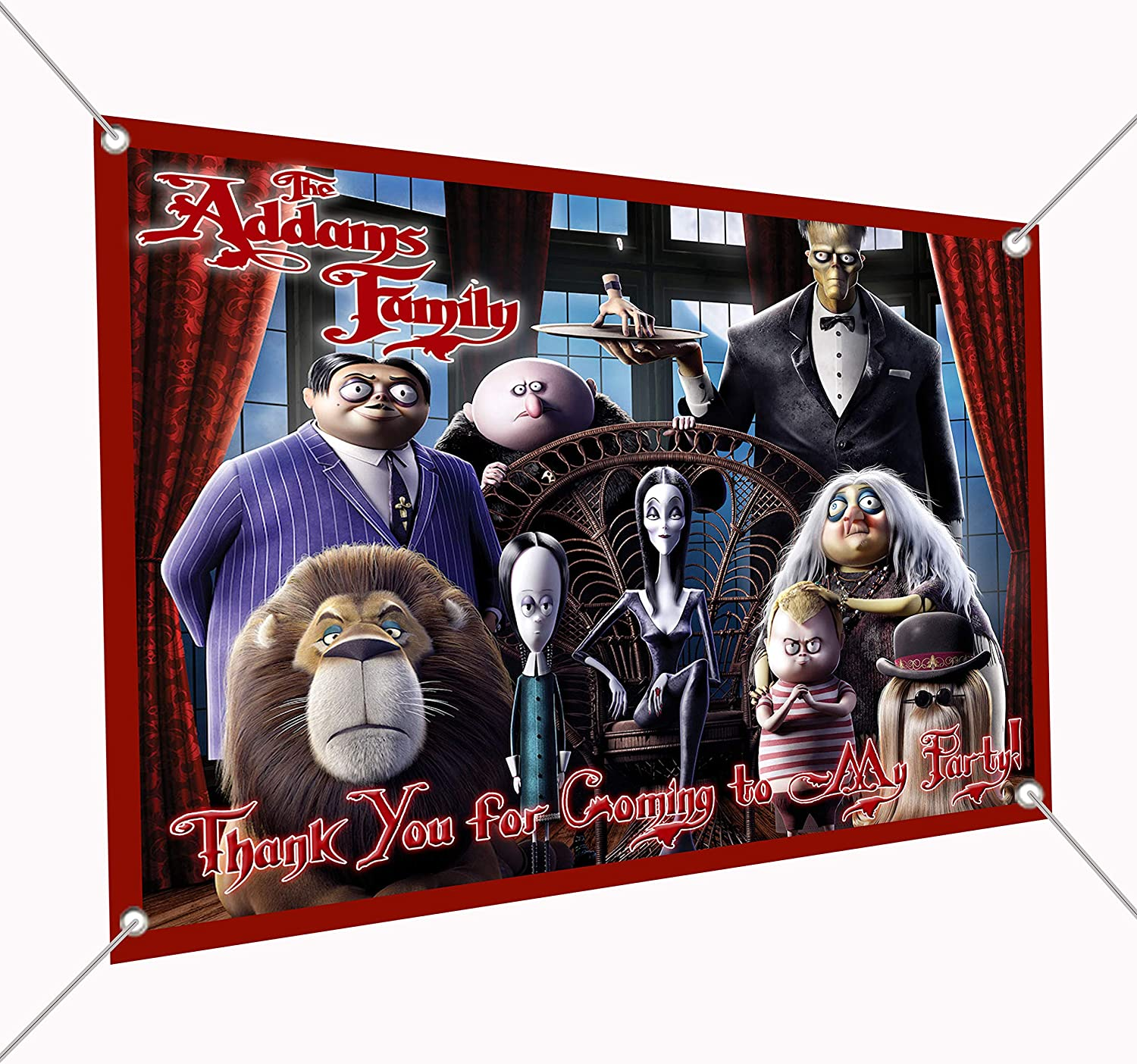 Addams Family Banner Large Vinyl or Tulsa Mall Indoor depot Sign P Outdoor