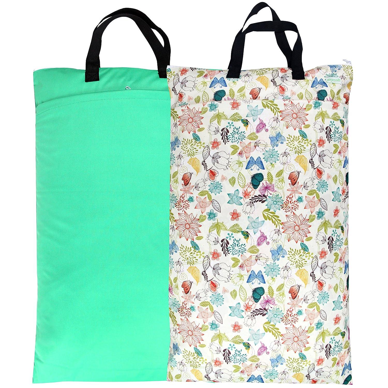 Wegreeco Reusable Hanging Wet Dry Cloth Pack Popularity Diaper Bag 2 Mail order cheap Jade