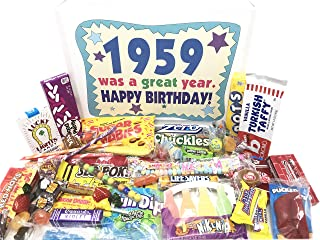 Woodstock Candy ~ 1959 CANDY GIFT - 60th Birthday Gift Ideas - Retro Vintage Candy Assortment from Childhood - 60 Years Old Birthday Gifts for Men and Women Born 1959