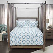 Rizzy Home DOH Young Love Duvet Set, Queen, Teal