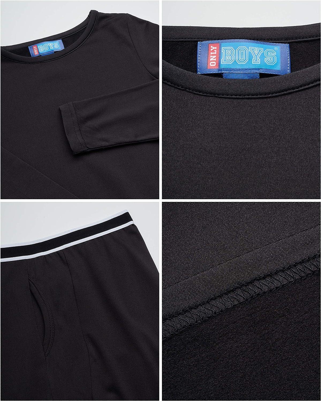 Only Boys Warm and Cozy Thermal Underwear Set Lightweight Fleece ...