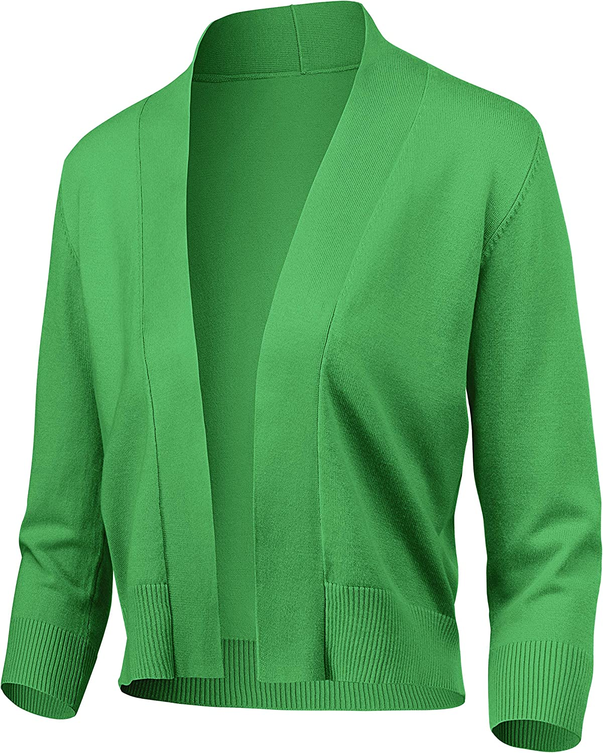 Women's Classic 3 4 Sleeve Open Cardigan Front Bolero Ranking TOP19 Cropped S 2021new shipping free shipping