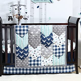 Woodland Trail Forest Animal Theme Baby Crib Bedding - 11 Piece Sleep Essentials Set