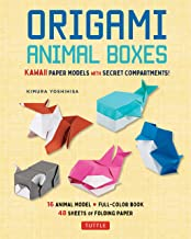 Origami Animal Boxes Kit: Kawaii Paper Models with Secret Compartments! (16 Animal Origami Models)