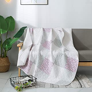 Soul & Lane Elegant Beauty 100% Cotton Real Patchwork Quilted Throw (50