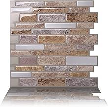 Tic Tac Tiles 25cm x 25cm 10 Blad 3D Muurtegels Zelfklevend Muurtegels voor Keuken en Badkamer - Polito Fresco