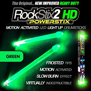 ROCKSTIX Verde - Luce LED UP TAMBURO BASTONI Firestix