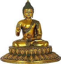Blessing Buddha on of Lotus Pedestal - Brass