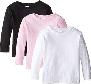 Clementine Apparel Girls' Long-Sleeve Basic T-Shirt Three-Pack