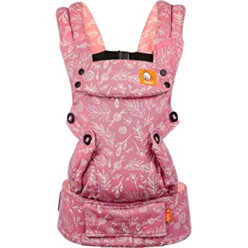Baby Tula Explore Baby Carrier 7 – 45 lb, Adjustable Newborn to Toddler Carrier, Multiple Ergonomic Positions, Front and Back Carry, Easy-to-Use, Lightweight – Bloom, Pink and White Floral