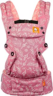Baby Tula Explore Baby Carrier, Adjustable Newborn to Toddler Carrier, Ergonomic and Multiple Positions for 7 - 45 pounds - Bloom (Pink and White Floral)