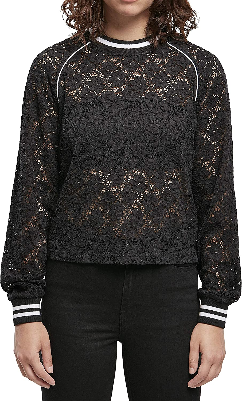 Urban Classics Max 54% OFF Women Sweatshirt Lace free shipping Short College