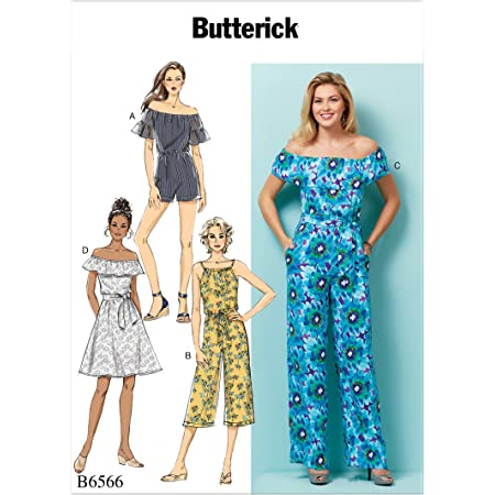 wei/ß McCalls Patterns McCalls M7936Z Learn to Sew Womens Jumpsuit and Romper Sewing Patterns Sizes L-XL Schnittmuster