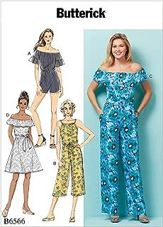 Butterick Patterns B6566ZZ0 Misses' Petite Dress, Romper, Jumpsuit and Sash Sewing Pattern, ZZ (LRG-XLG-XXL)