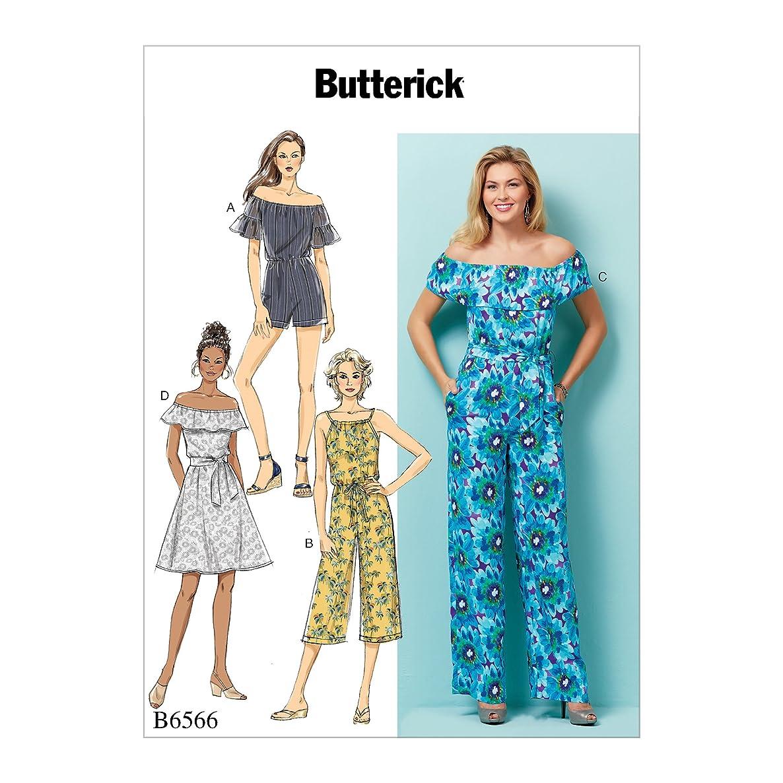 Butterick Patterns B6566ZZ0 Misses' Petite Dress, Romper, Jumpsuit and Sash Sewing Pattern ZZ (LRG-XLG-XXL)