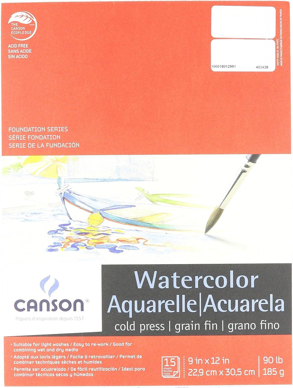 CANSON 100511022 WaterFarbe Pad, Pad, Pad, 15 Blatt, 22,9 x 30,5 cm Größe, natur weiß B000KNPA2U | Online Kaufen  2635e7