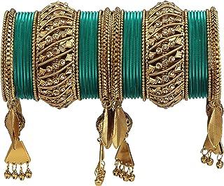 Anuradha Art Multi Colour Studded Crystal Stone Elastic Styled Fancy Hand Bracelet//Kada for Women//Girls