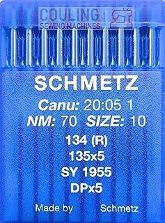 SCHMETZ - Agujas para máquina de Coser (10 Unidades, Sistema 134 (R), Industrial, St. 70)
