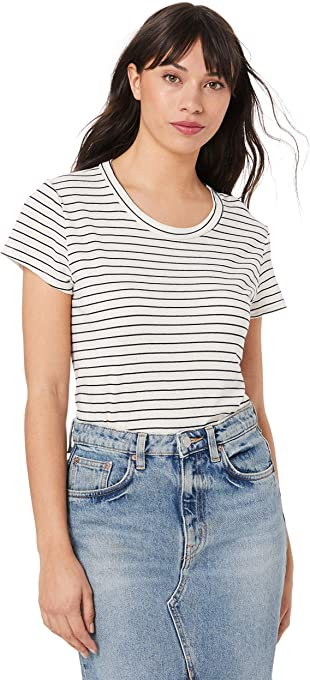 LACAUSA Women's Recycled Stripe Frank Tee