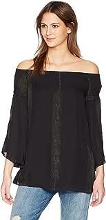 Halston Heritage Women's Off Shoulder Flowy Sleeve Printed Top