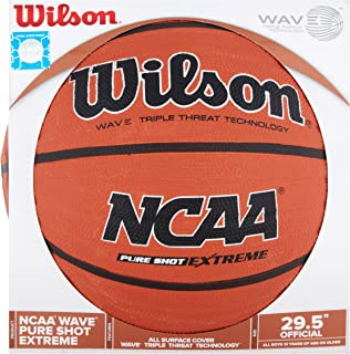 4SGM 32334 Brown NCAA Wave Pure Shot Basketball, 29.5