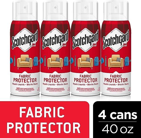Scotchgard 织物室内装饰保护器排斥液体块污渍 40 盎司