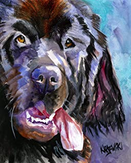 """Newfoundland Dog Art Print 
