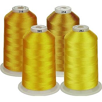 Simthread 5000 m Juego de bobinas de hilo de poli/éster para bordar a m/áquina para m/áquinas de coser y de bordar Brother//Babylock//Bernette//Janome//Singer//Kenmore
