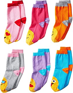 Jefferies Socks - Emoji Crew 6-Pack (Toddler/Little Kid/Big Kid)