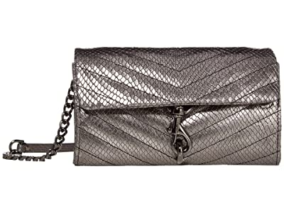 Rebecca Minkoff Edie Wallet On Chain (Anthracite) Handbags