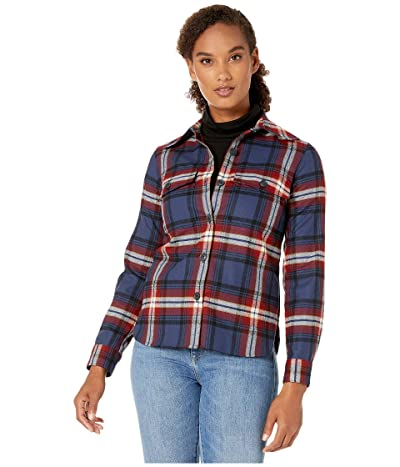 Pendleton Ultraluxe Merino Harlow Shirt (Navy/Red Large Plaid) Women