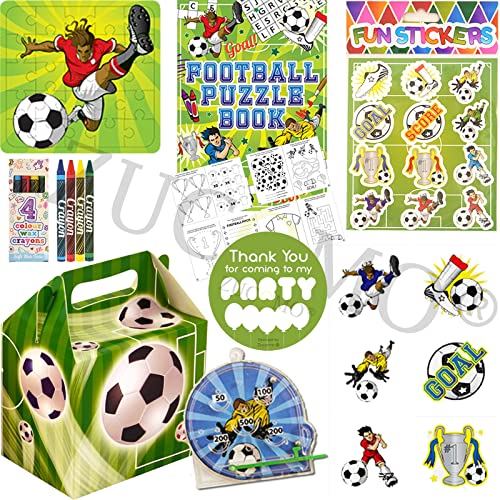 Boys Girls Pre Filled Party Bags For Children Luxury Themed Birthday Parties (Football Party Bags)