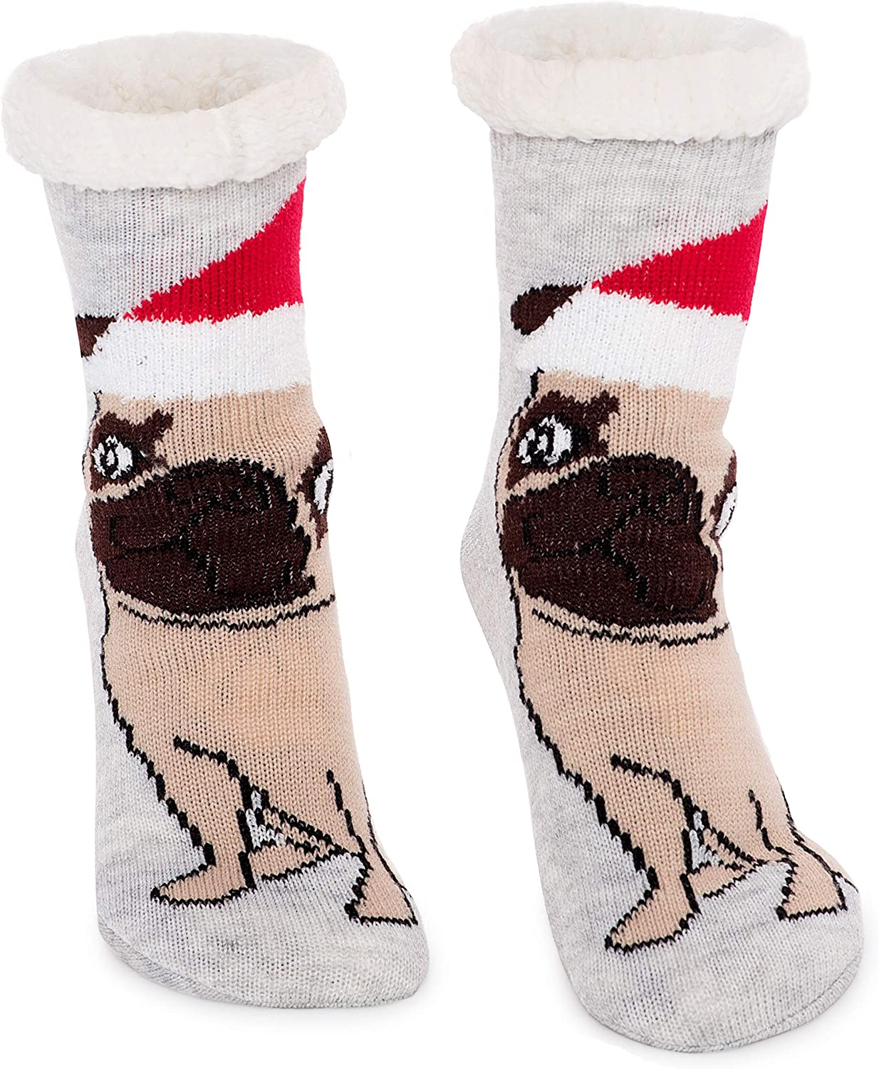 Women's Max 63% OFF Faux Fur Fuzzy Winter Max 53% OFF Socks Grippers with Animal