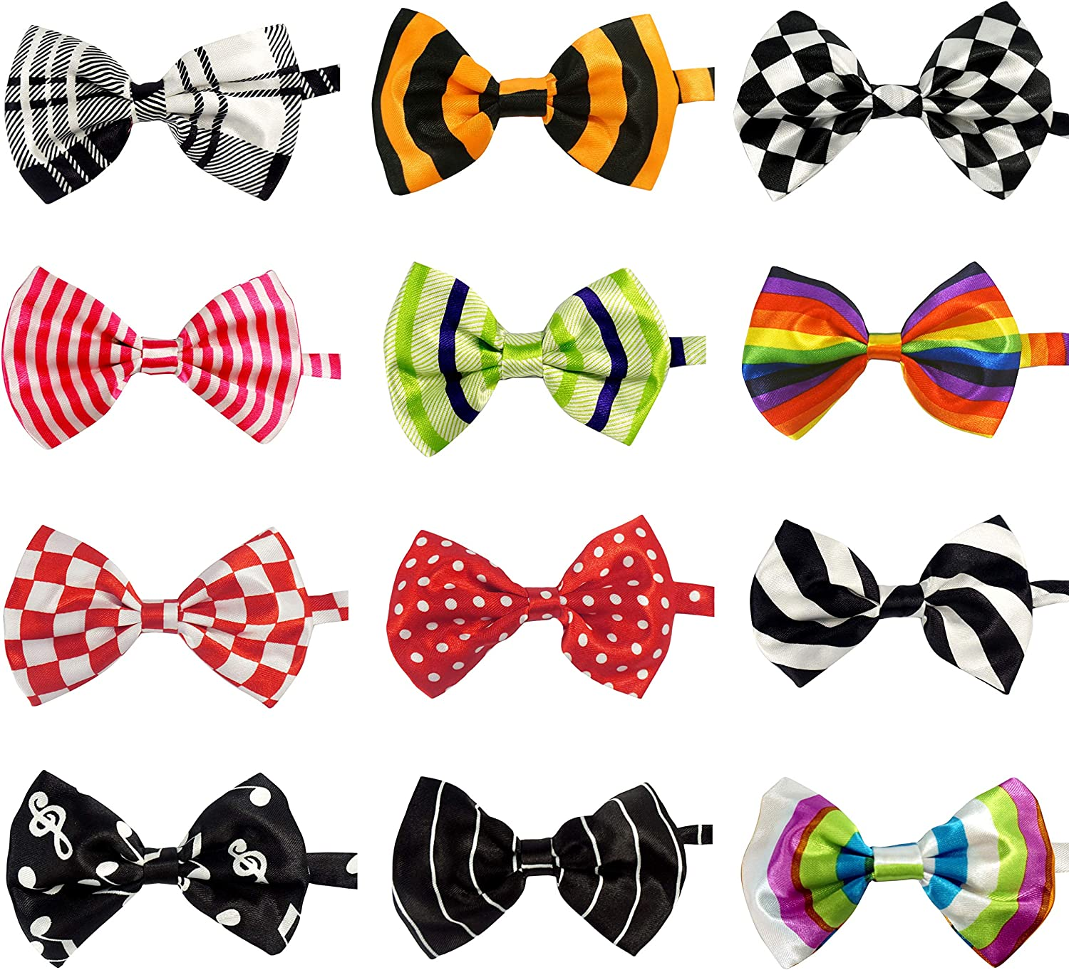 LilMents 12 Pack Boys Mixed Over item handling ☆ Designs Bow Tied Pre Adjustable Neck Limited time sale