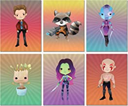 Guardians of The Galaxy Prints - Set of 6 Art Decor (8 inches x 10 inches) Photos