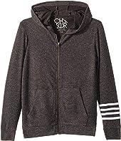 Extra Soft Love Knit Zip-Up Hoodie w/ Arm Stripes (Little Kids/Big Kids)