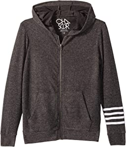 Extra Soft Love Knit Zip-Up Hoodie w/ Arm Stripes (Little Kids/Big Kids)