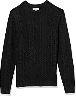 Amazon Brand - Goodthreads Men's Supersoft Long-Sleeve Cable Knit Crewneck Sweater