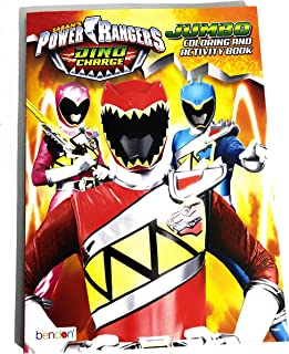 Power Rangers Dino Charge Jumbo Coloring and Activity Book W/ Tear & Share Pages