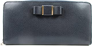 Crossgrain Leather Bow Accordion Zippered Wallet 52632