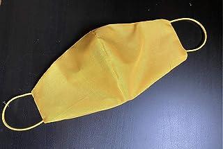 Mascherina artigianale lavabile Giallo gialla colorata cotone con tasca per filtro maschera protezione facciale