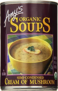 Amy's Organic Soups, Cream of Mushroom, 14.1 Ounce (Pack of 6)