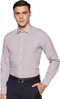 Excalibur Men's Checkered Slim fit Formal Shirt
