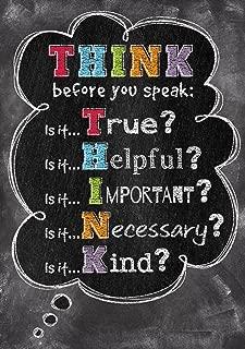 Creative Teaching Press Poster Think Before You Speak. Inspire U Poster (6748)