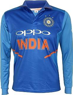 f513ea66c KD Cricket India Jersey Full Sleeve Cricket Supporter T-Shirt New Oppo Team  Uniform Polyster