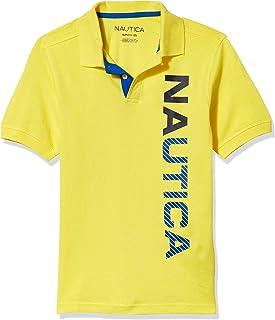 Nautica boys Short Sleeve Logo Screen Print Polo Polo Shirt