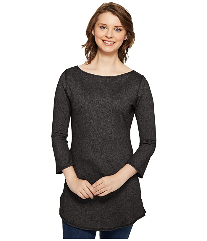 Independence Day Clothing Co Reversible Boat Neck Tunic (Heathered Charcoal) Women's Blouse