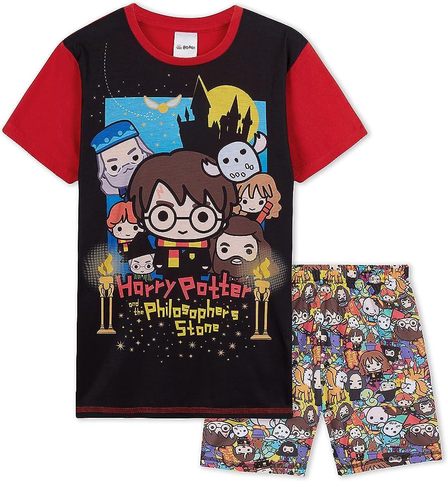 Boys Pyjamas, Kids Shorts And Tshirt PJ Sets, Harry Potter Gifts