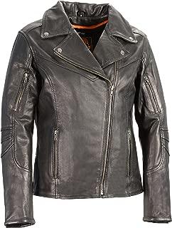 Milwaukee Leather Women's Vented Motorcycle Jacket (Black, X-Large)